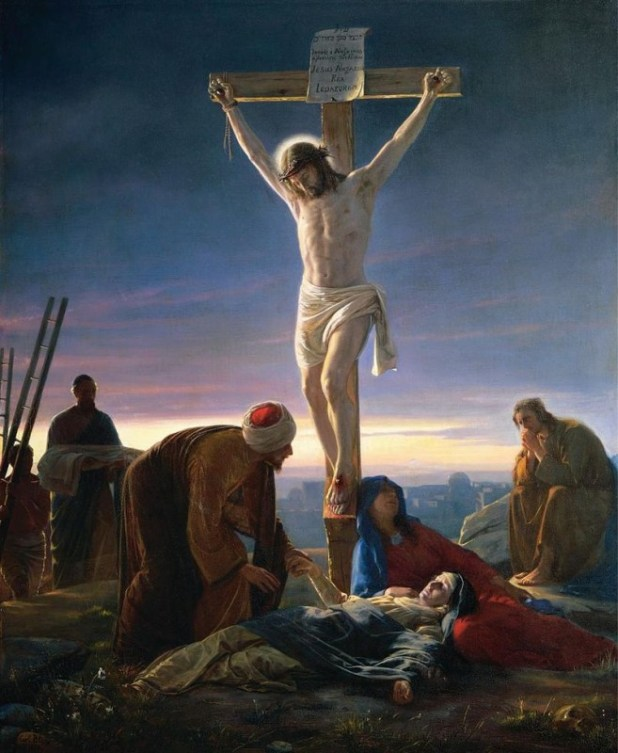 Christ at the Cross by Carl Bloch, painting c. 1870