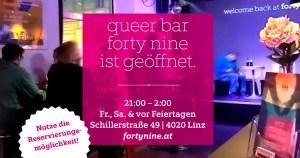 forty nine geöffnet ab 21:00 (Samstag) @ Queer Bar forty nine