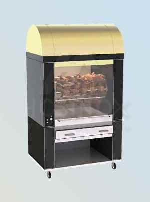 Golden colored top model B&M chicken grill HOSINOX