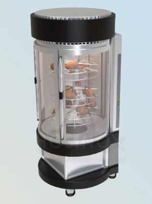 Electric chicken grill with vertical planetary rotation of grills HOSINOX