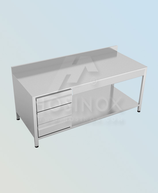 working table with drawers hosinox