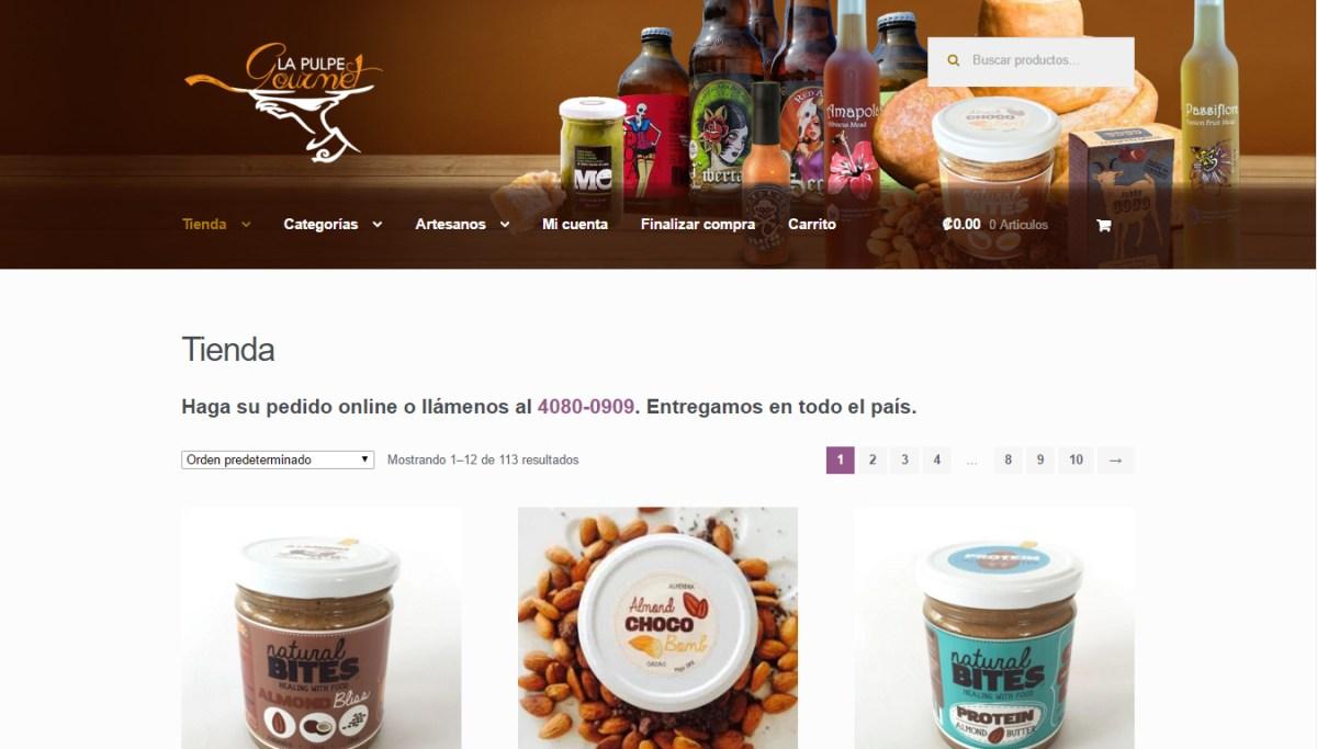 Diseño web www.LaPulpeGourmet.com