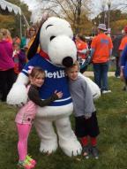 MetLife w Snoopy and kids