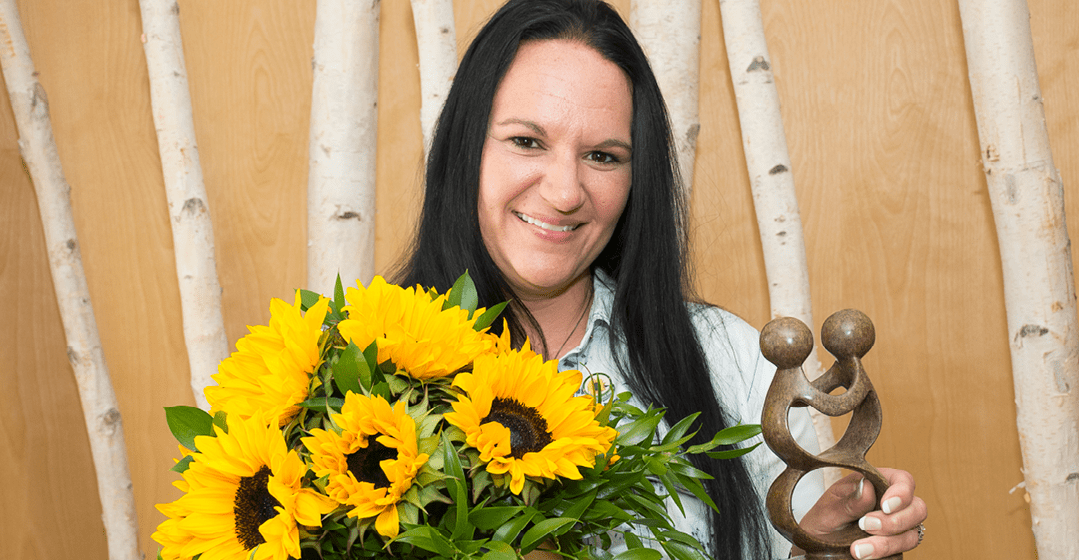 Sunflower Award Presented To Cathy Gipson, STNA