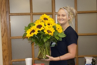 Sunflower Honors Awarded To Megan Wells