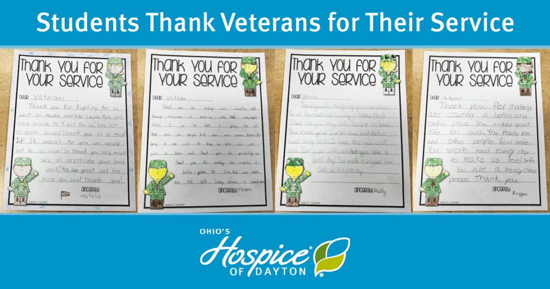 Students Thank Veterans For Their Service - Ohio's Hospice Of Dayton