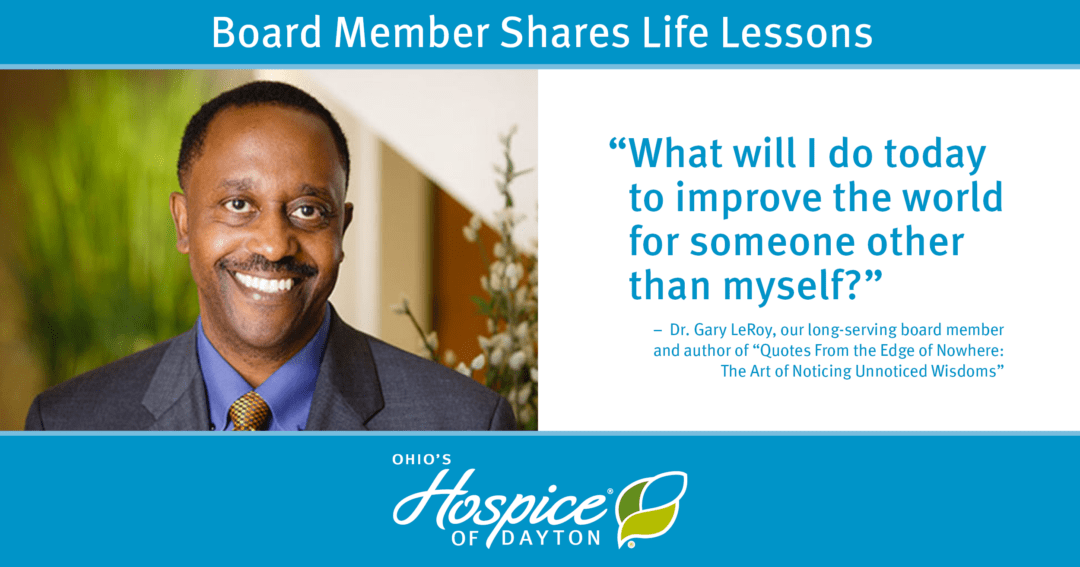 Board Member Shares Life Lessons