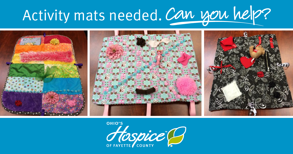 Calling All Crafters: Activity Mats Needed For Hospice Patients