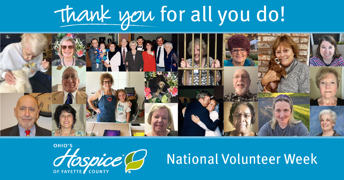 Thank You For All You Do! National Volunteer Week