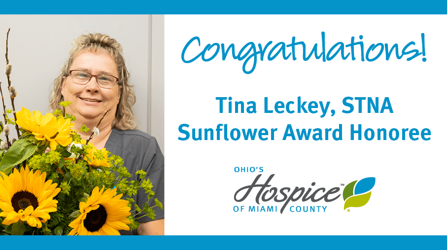 Tina Leckey Of Ohio's Hospice Of Miami County Recognized With Award