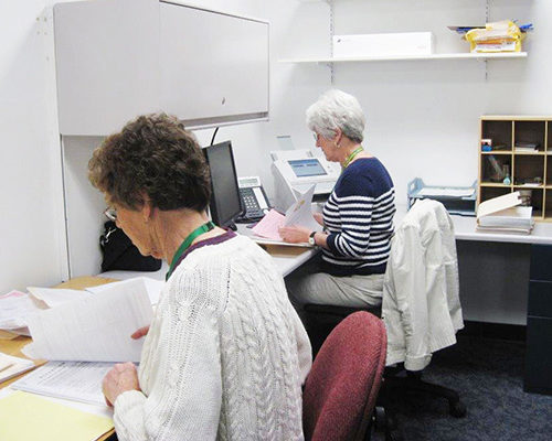 Volunteers Doing Office Work