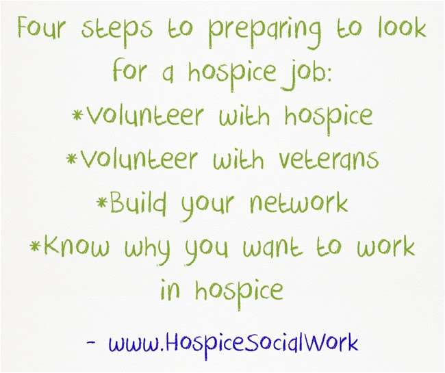Get a hospice social work job