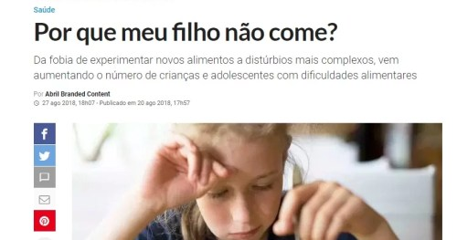 Dr. Mauro Fisberg fala à revista Veja São Paulo sobre alimentação