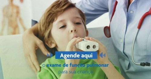 Agende Exame de Função Pulmonar para sua Criança