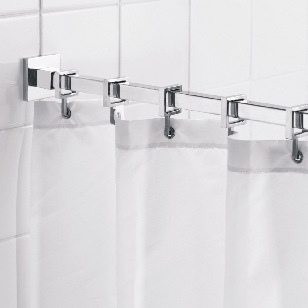 stall shower curtains water resistant 100 polyester w buttonholes 39 x 72 white 2 pack
