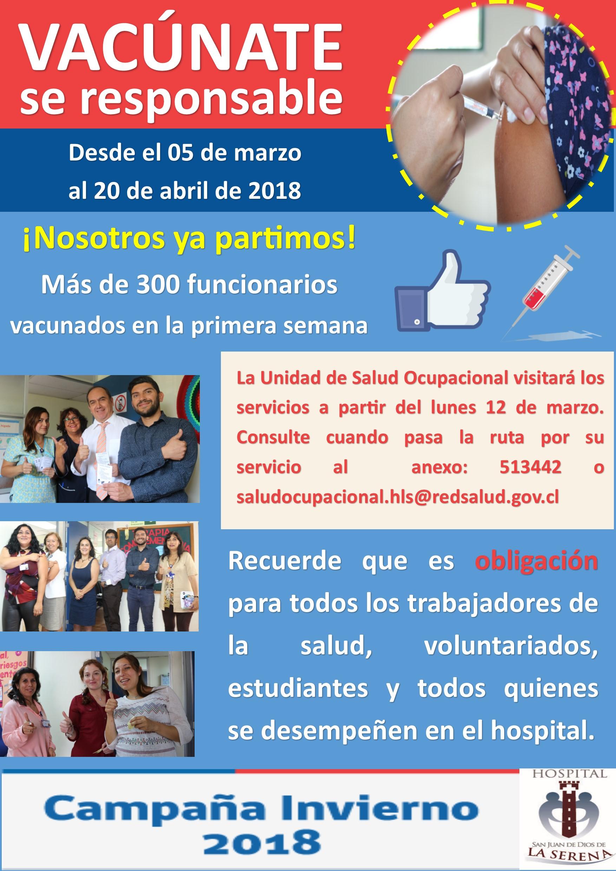 Campaña de Vacunación Influenza 2018