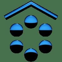 A-BLUE Smart Launcher Theme