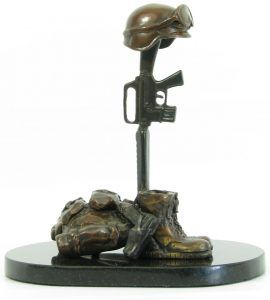 "Soldier's Cross"" Bronze Sculpture By Carey & Amy Hosterman"