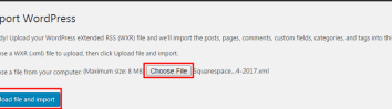 Selecting the file to import