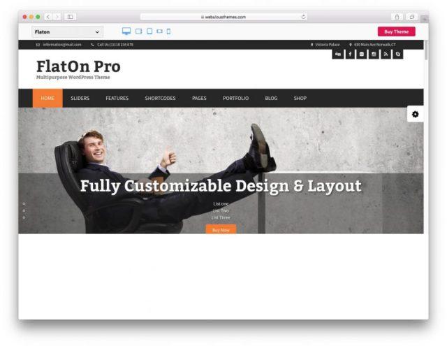 FlatOn theme demo page.