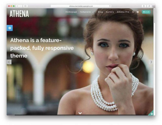 Athens theme demo page.