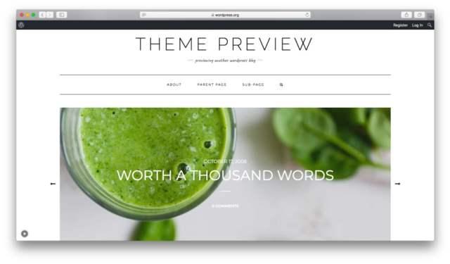 Preview the free Kale WordPress theme
