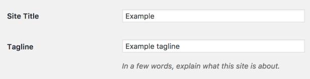 Pengaturan judul dan tagline WordPress