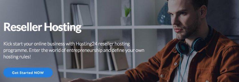 Hosting24 frontpage.