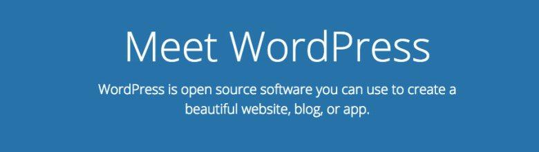 Lo slogan di WordPress CMS