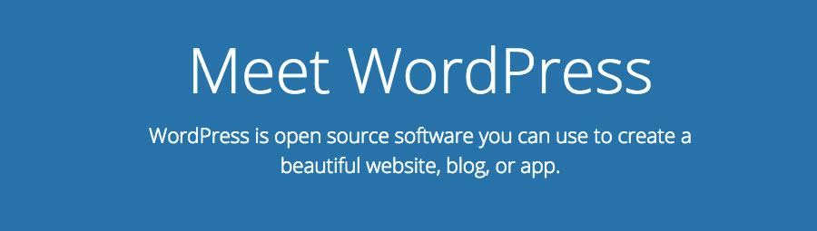 The slogan of WordPress CMS