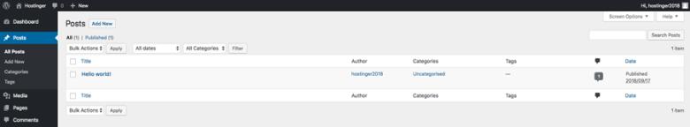 Creazione e modifica di post nella dashboard di WordPress