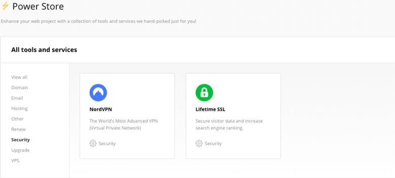 Acquistare un certificato SSL / TLS a vita dal Power Store di Hostinger