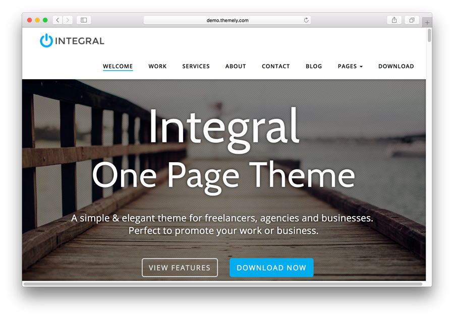 Integral WordPress Portfolio Theme