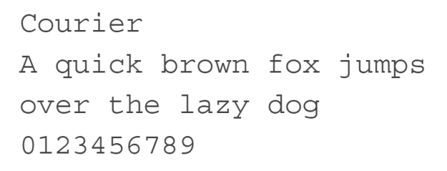 Courier typeface font terbaik untuk website