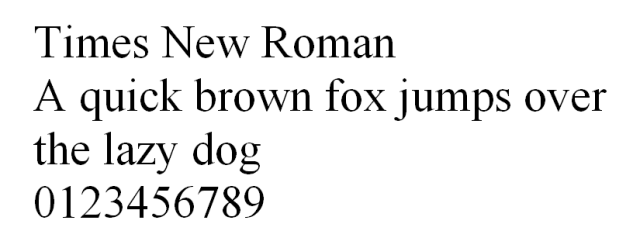 Times New Roman HTML font untuk website