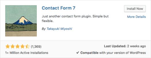 El plugin Contact Form 7