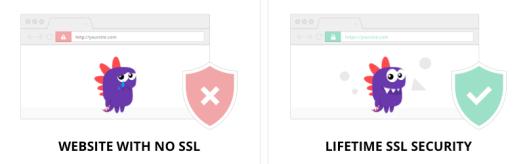 Sitio web con y sin SSL/TLS