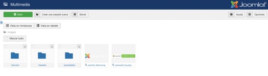 Subiendo y eliminando archivos multimedia en Joomla