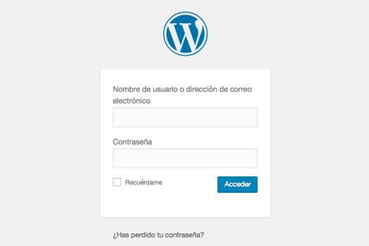 acceder al escritorio wordpress