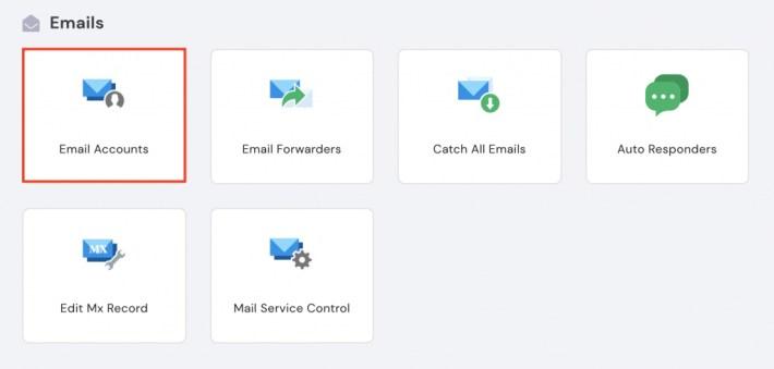 Outlook için Hostinger hPanel'de eposta hesabı ayarları