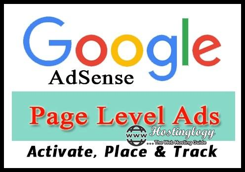 How to Activate and Place Google AdSense Page Level Ads in your Website/Blog