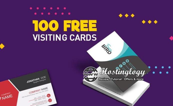 100 Visiting Cards For Free