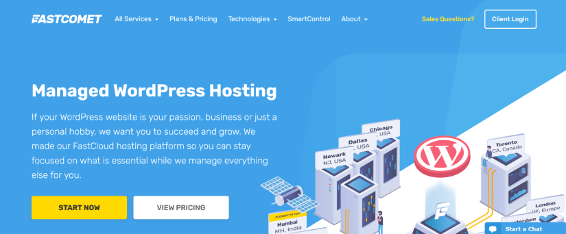 FastComet-Best Web hosting companies in india- HostingQNA