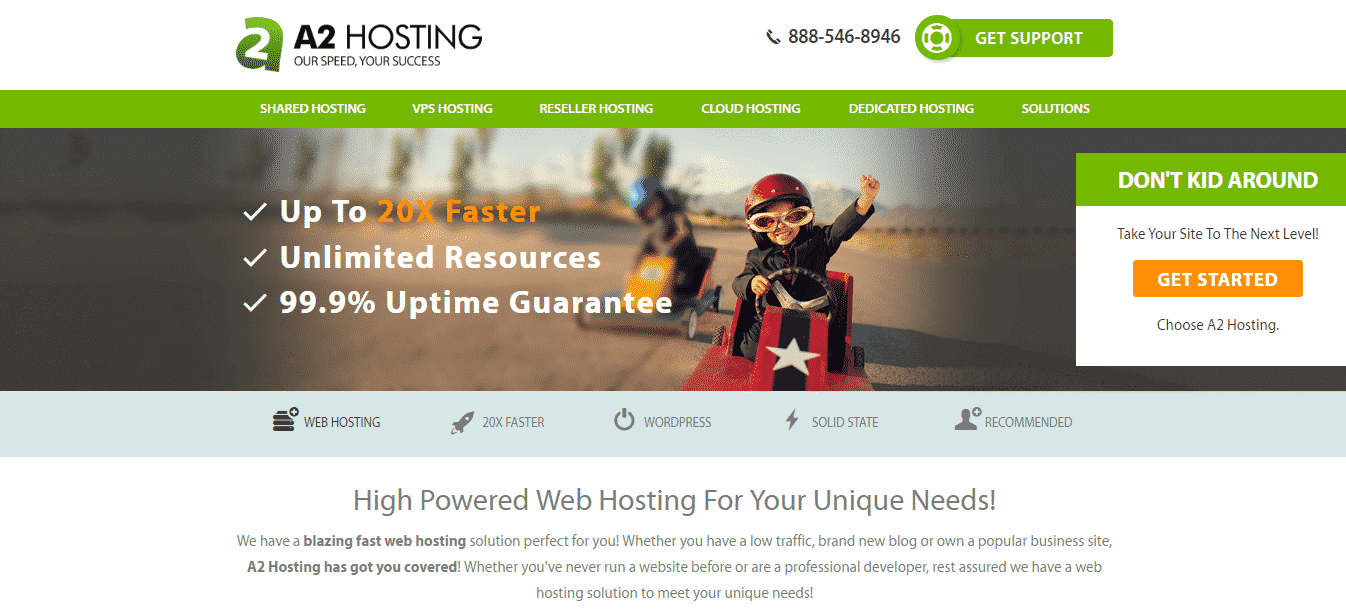 Bluehost VS A2Hosting 2017