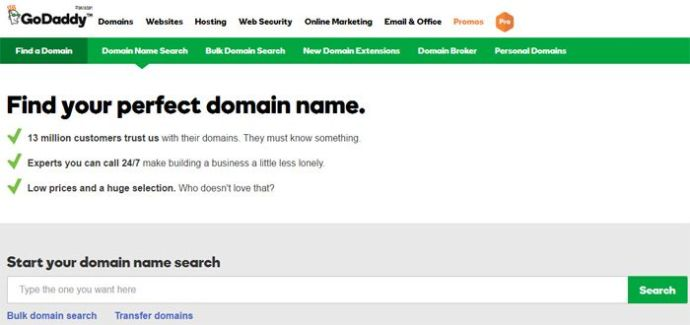 godaddy largest domain name registrar