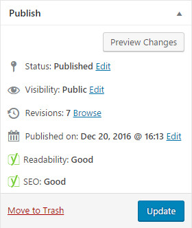 yoast seo and readability rating