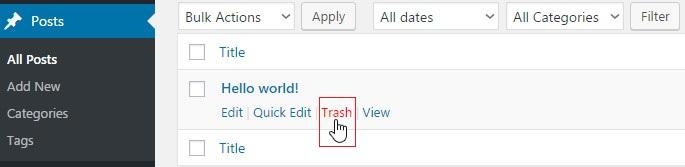 trash hello world posts