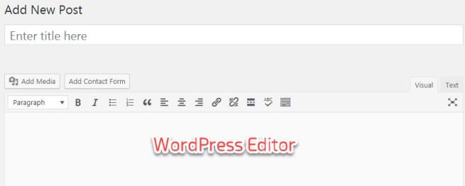WordPress default editor