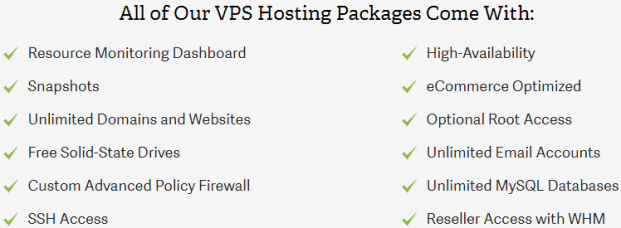 inmotion linux vps features