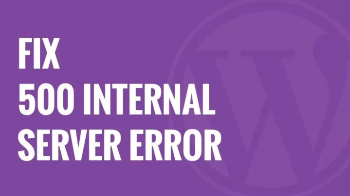 Best Way to Fix 500 internal Server Error
